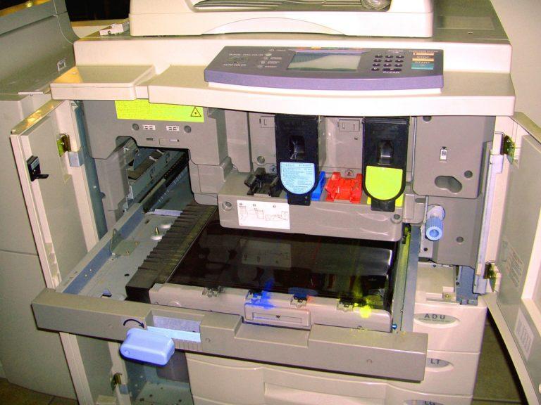 copier, inside, toner